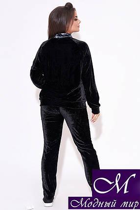 Женский бархатный костюм батал (р. 50-52, 54-56, 58-60, 62-64) арт. 31-858, фото 2