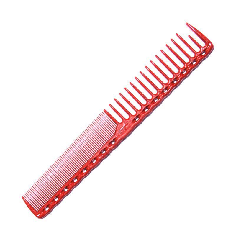 Расческа планка Y.S. Park YS-332 Red со скругленными зубцами L=185 мм