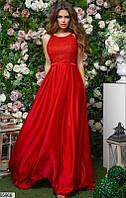 Вечернее нарядное платье атласное в пол с пайетками 42 44 46