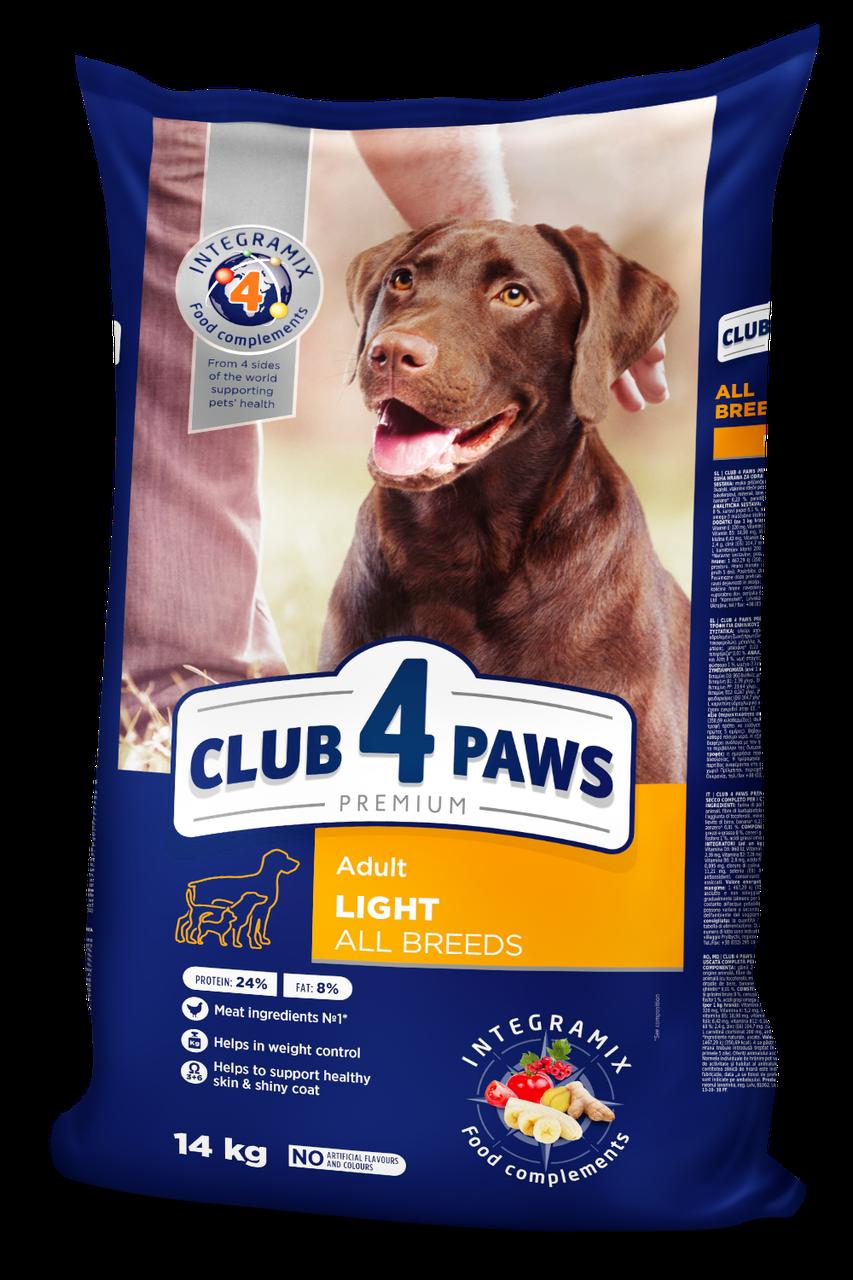 Сухой корм Контроль веса для собак всех пород 14 кг CLUB 4 PAWS Клуб 4 Лапы