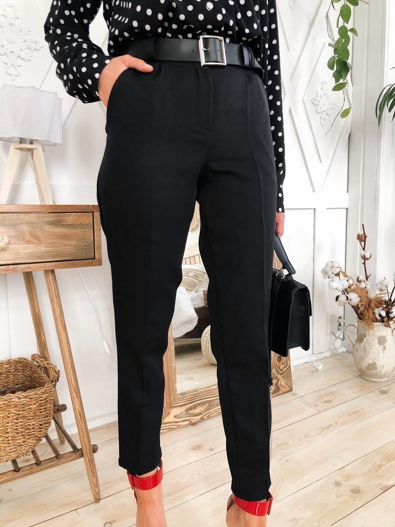Женские стильные черные брюки