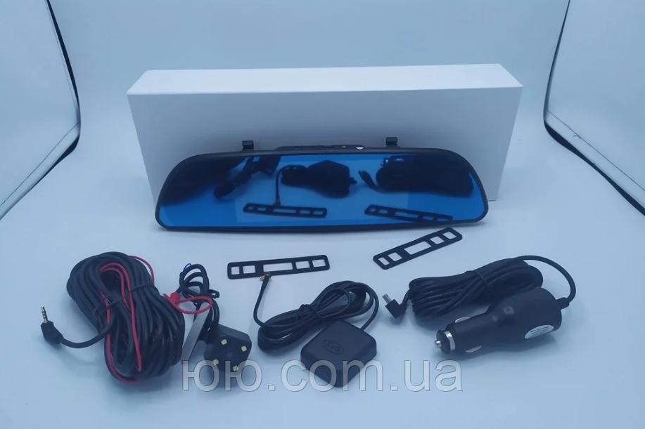 "Зеркало видеорегистратор D35 (Android) 1/8 (LCD 7"", GPS), 2 камеры"