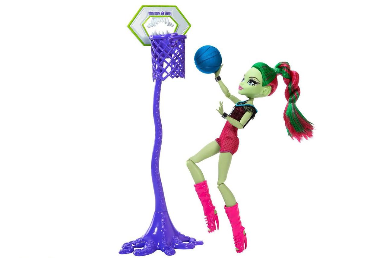 Кукла Венера Макфлайтрап Каскетбол Оригинал Monster High Casketball Champ Venus Mcflytrap Doll Giftset (DXY08)