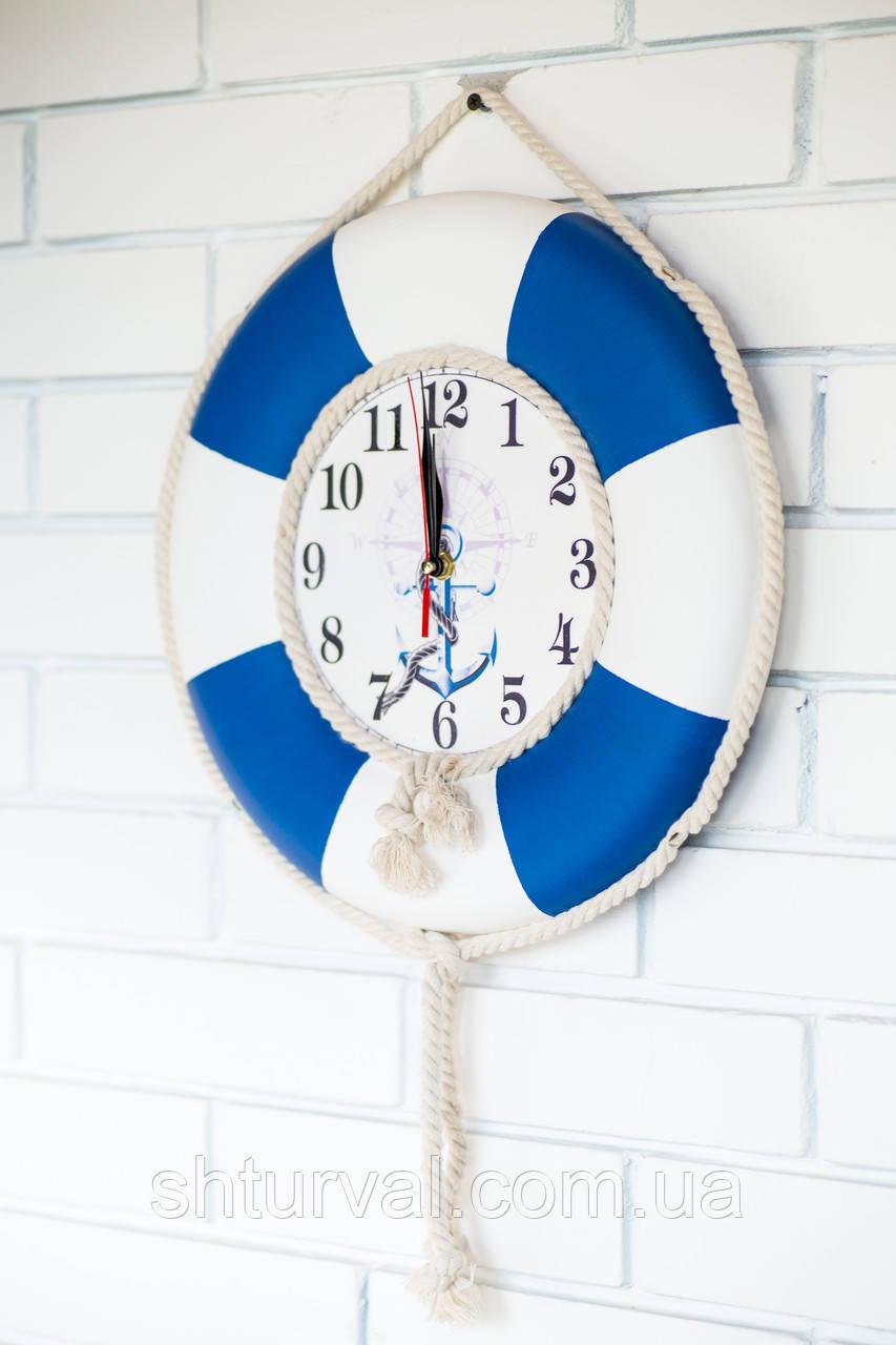 """Часы деревянные """"Спасательный круг """""""