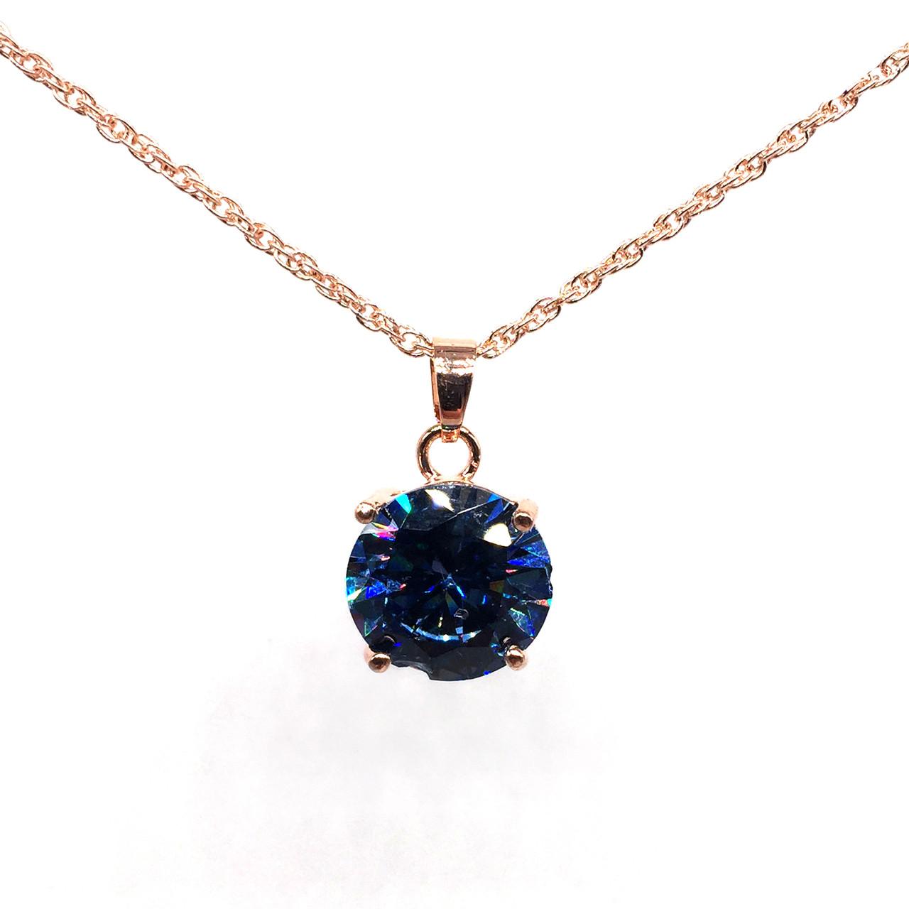 Подвеска на цепочке SONATA из медицинского золота, синий фианит, позолота PO, 41934       (1)