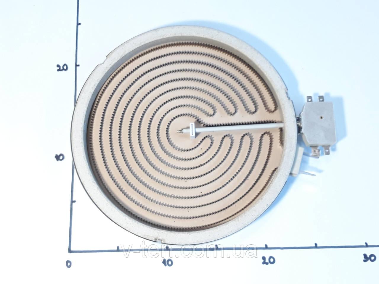 Электроконфорка Ø230 / 2300w / 4 конт. для стеклокерамических поверхностей
