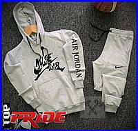 Мужской стильный спортивный костюм от NIKE AIR (найк) реплика, Весна/Лето!  Цвет серый.