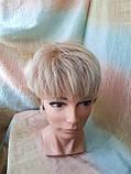 Короткий парик из термоволос платиновый блонд RG4400-15ВТ613, фото 6