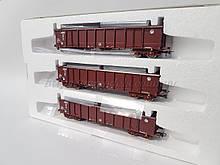 Roco 76091 комплект из 3х грузовых вагонов, принадлежность HZ Cargo, масштаба 1/87, Н0