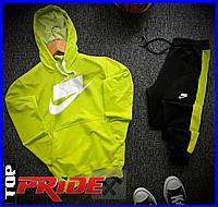 Мужской стильный спортивный костюм от NIKE (найк) реплика, Весна/Лето!  Цвет желтый.