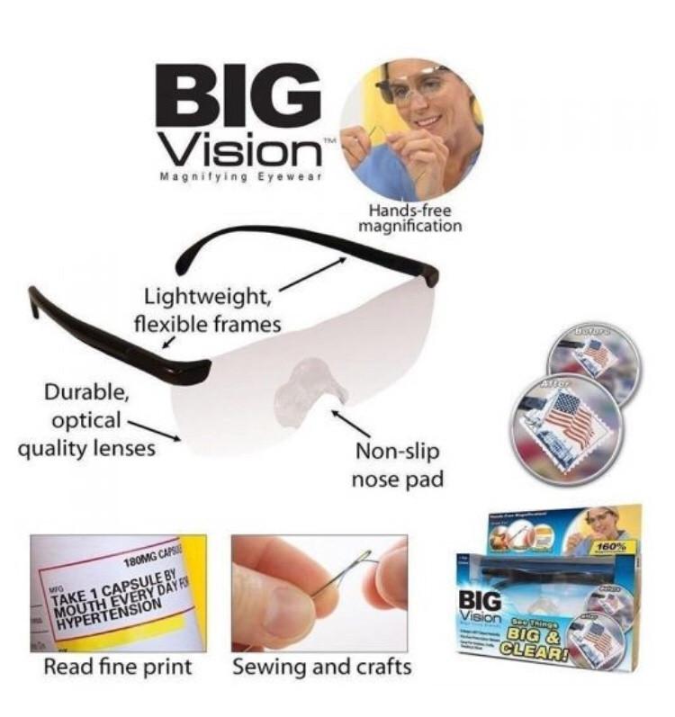 Збільшувальні окуляри Big Vision 160, окуляри-лупа