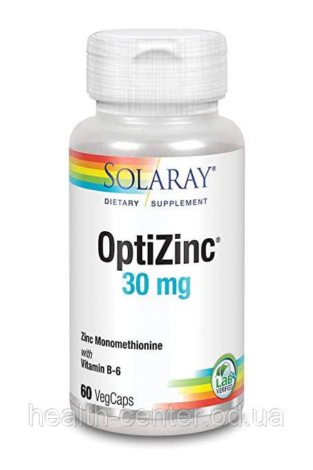 Цинк хелат 30 мг 60 капс противовирусное для иммунитета мозга зрения Solaray USA