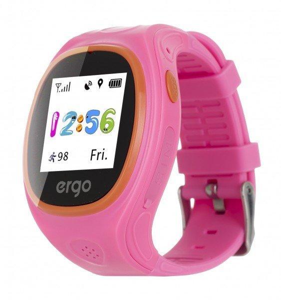 Смарт годинник ERGO GPS Tracker Junior Color J010 - Детский трекер (Рожевий)
