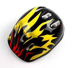 Шлем для детей и подростков Черный огонь