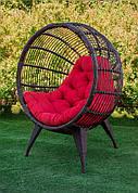 Крісло з штучного ротанга Манго коричневий