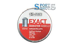 Пули JSB Exact Monster 4.52мм, 0.87г, 400шт