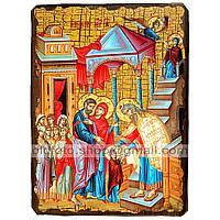 Икона Введение во Храм Пресвятой Богородицы ,икона на дереве 130х170 мм