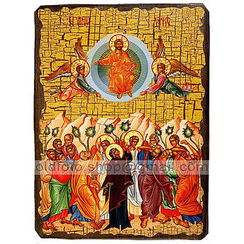 Икона Вознесение Господне ,икона на дереве 130х170 мм