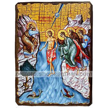 Икона Крещение Господне ,икона на дереве 130х170 мм