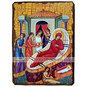 Икона Рождество Пресвятой Богородицы ,икона на дереве 130х170 мм