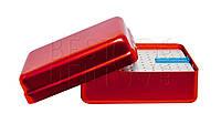 Стерилизатор для боров и эндо файлов (большой) 120отв, красный, эндолинейка