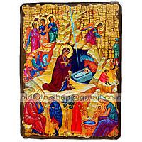 Икона Рождество Христово (130х170мм)