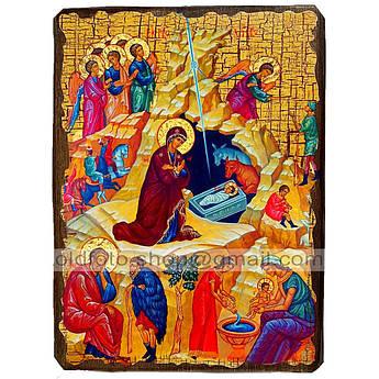 Икона Рождество Христово ,икона на дереве 130х170 мм