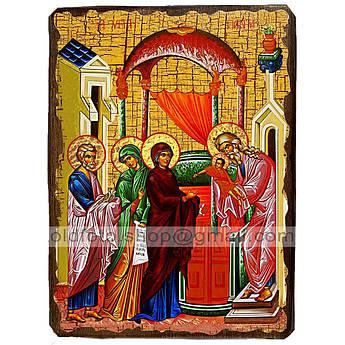 Икона Сретение Господне ,икона на дереве 130х170 мм
