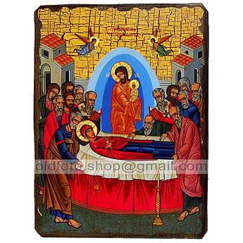 Икона Успение Пресвятой Богородицы ,икона на дереве 130х170 мм