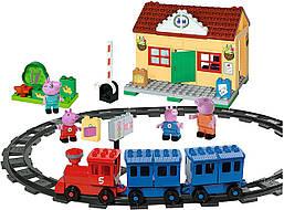 Конструктор Железнодорожный вокзал Свинки Peppa 95 деталей Big 57079