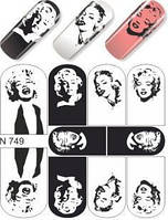 Слайдер-дизайн для ногтей N 749