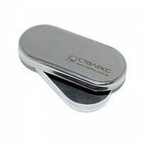 Контейнер коробочка для дезинфекции и хранения боров и фрез  из нержавеющей стали Staleks Pro размер 90 х 40 х 15 мм