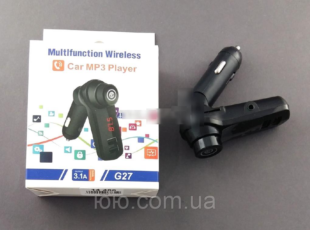 Автомобильный FM-трансмиттер G27 (3.1A), чёрный