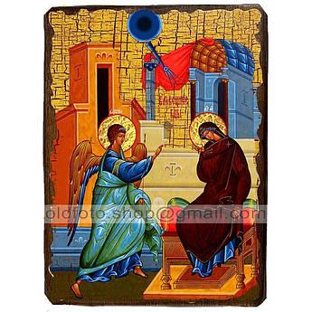 Икона Благовещение Пресвятой Богородицы  ,икона на дереве 300х400 мм