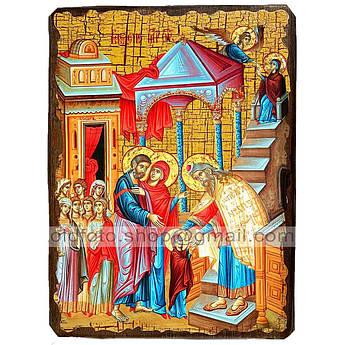 Икона Введение во Храм Пресвятой Богородицы ,икона на дереве 170х230 мм
