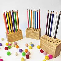 Подставка для карандашей из дерева 3 шт