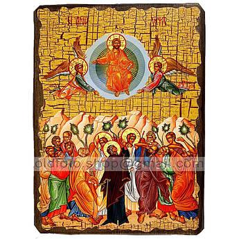 Икона Вознесение Господне ,икона на дереве 300х400 мм