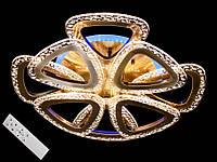 Светодиодная бронзовая ЛЕД люстра в спальню с пультом 90W