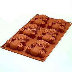 Силиконовая форма для выпечки в духовке (Мишка Барни)
