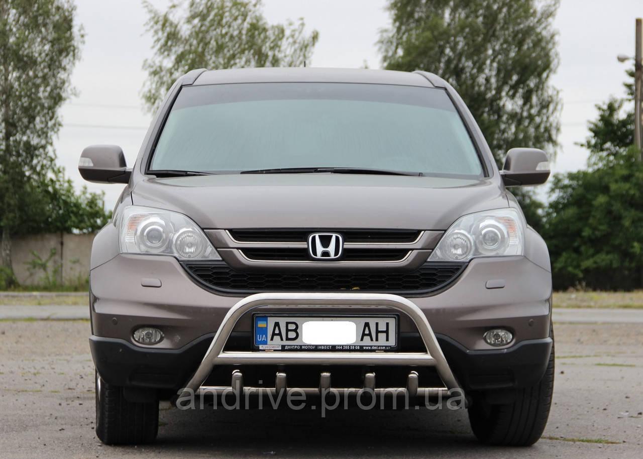 Кенгурятник с грилем (защита переднего бампера) Honda CR-V 20062012