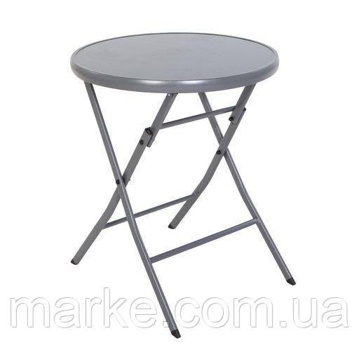 Раскладной стол  для балкона круглый стекляный Bisrto D60