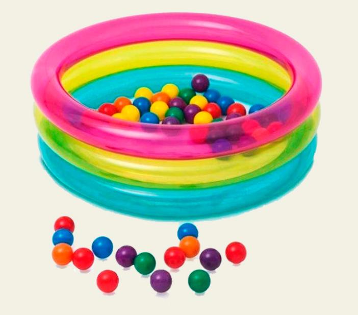 Детский надувной бассейн Intex 48674 с мячиками