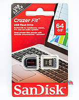 USB флешка SanDisk Cruzer Fit 64GB USB (SDCZ33-064G-B35)