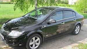 Ветровики Opel Astra H Sd 2007-2012  дефлекторы окон