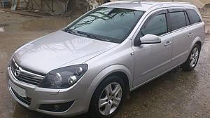 Ветровики Opel Astra H Wagon 2004-2011  дефлекторы окон