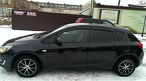 Ветровики Opel Astra J Hb 2010-2015  дефлекторы окон