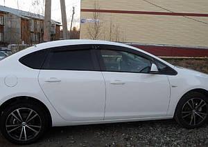 Ветровики Opel Astra J Sd 2012-  дефлекторы окон