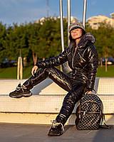 Женский зимний теплый комбинезон стеганая плащевка на 200-ом холлофайбере+подкладка размеры: с, м, л. ОПТ/ДШ