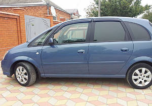 Ветровики Opel Meriva A 2002-2011  дефлекторы окон