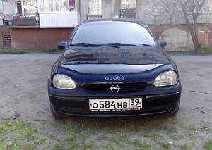 Мухобойка, дефлектор капота Opel Corsa B c 1993-2000 г.в.